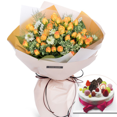봄봄혼합꽃다발(케익포함)