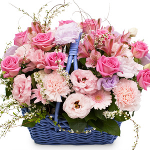 분홍꽃바구니